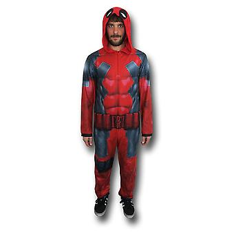 Deadpool Sublimated Pajamas Union Suit