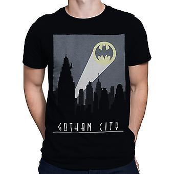 Batman Art Deco Gotham City signal män ' s T-shirt