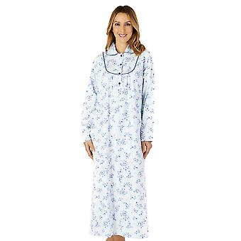 Slenderella ND4212 Women's Woven Floral Cotton Nightdress