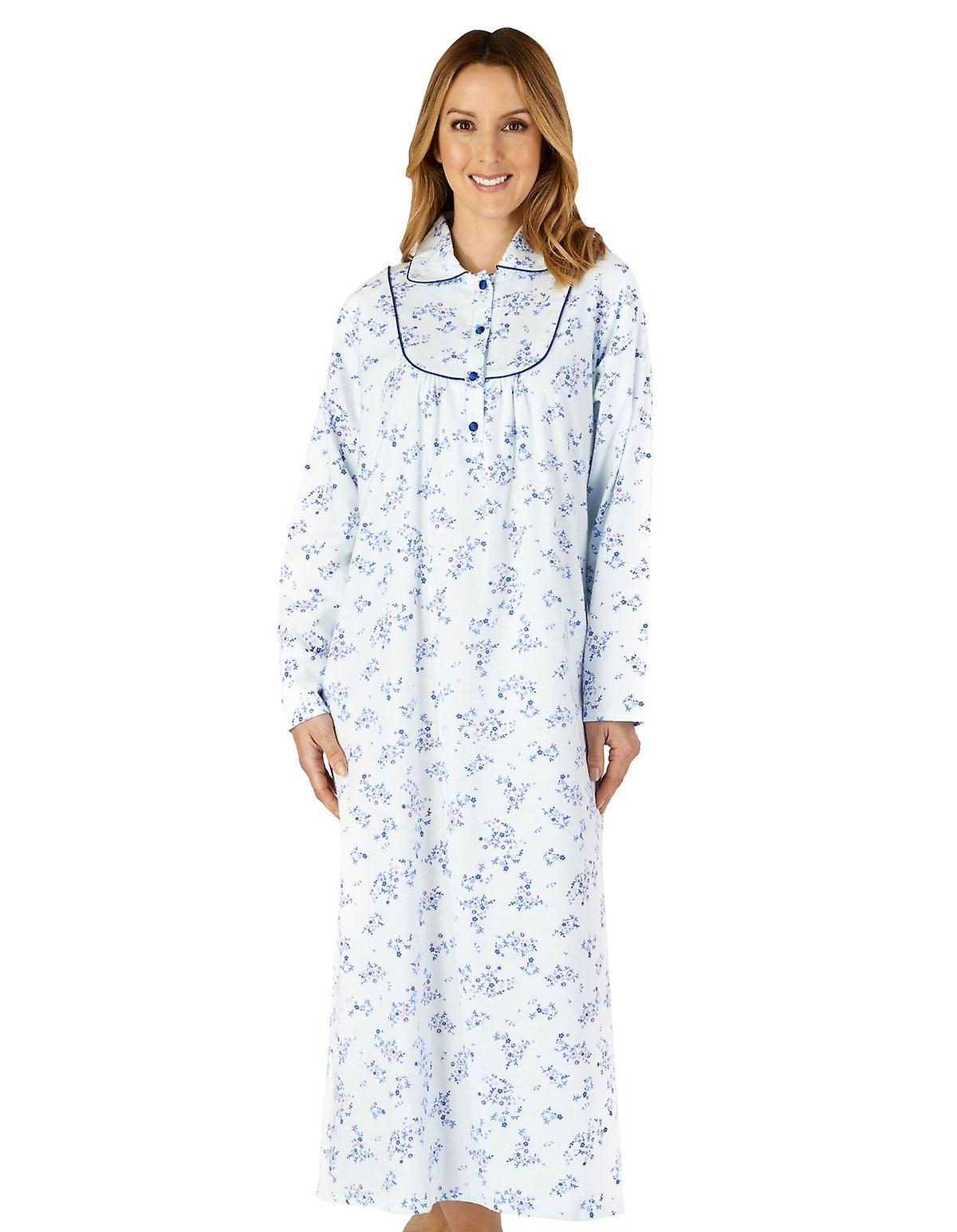 Slenderella ND4212 Women's Woven Floral Cotton Nightdress