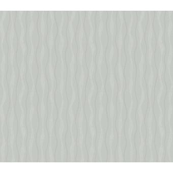 Arthouse Glitz Wavey Stripe Wallpaper Grey Silver Glitter Shimmer Lines Vinyl
