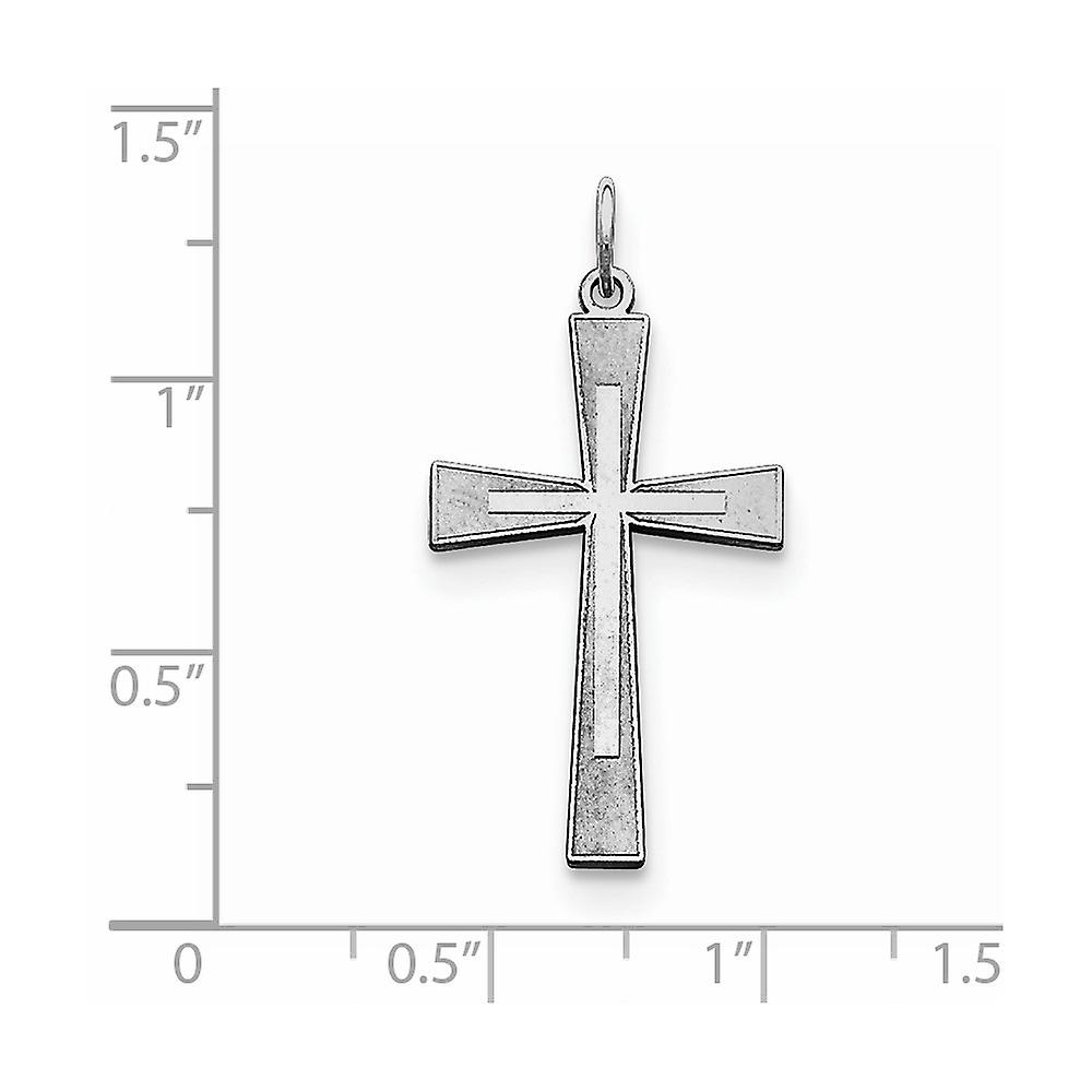 925 Sterling Silver Solid Polished Cross Pendant