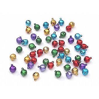 80 Assorted Colour 10mm Jingle Bells for Crafts | Craft Bells