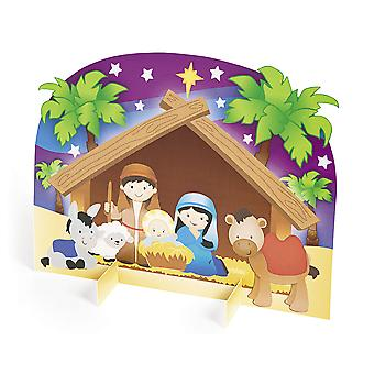 12 Nativity 3D Sticker Scenes for Kids Christmas Crafts