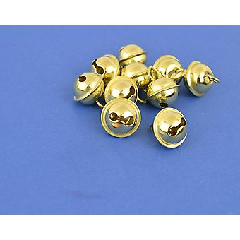 SALE -  100 Gold 9mm Cat Bell Style Jingle Bells for Crafts