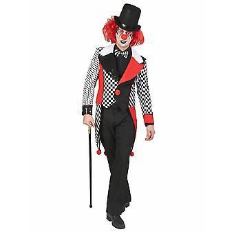 Frack Harlequin Funmaker mäns kostym clown Fool jacka mäns kostym