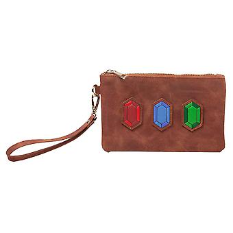 Zelda Purse Rupees Logo Pouch new Womens Official Nintendo Brown