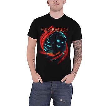 Disturbed T Shirt Evolution DNA Swirl Band Logo new Official Mens Black