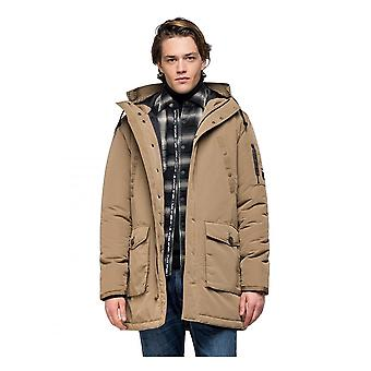 Replay Jeans Replay Mens Hooded Parka Jacket Earth
