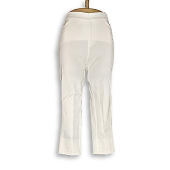 Isaac Mizrahi Live! Women's Petite Pants 24/7 Stretch Crop White A351755