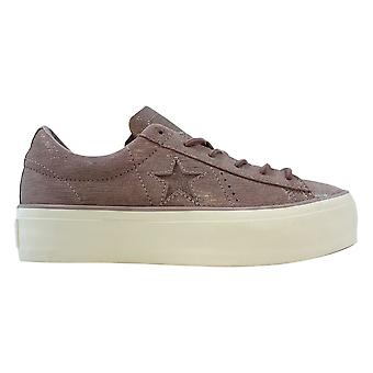 Converse One Star Platform Ox Diffused Taupe/Silver-Egret 561771C Frauen's