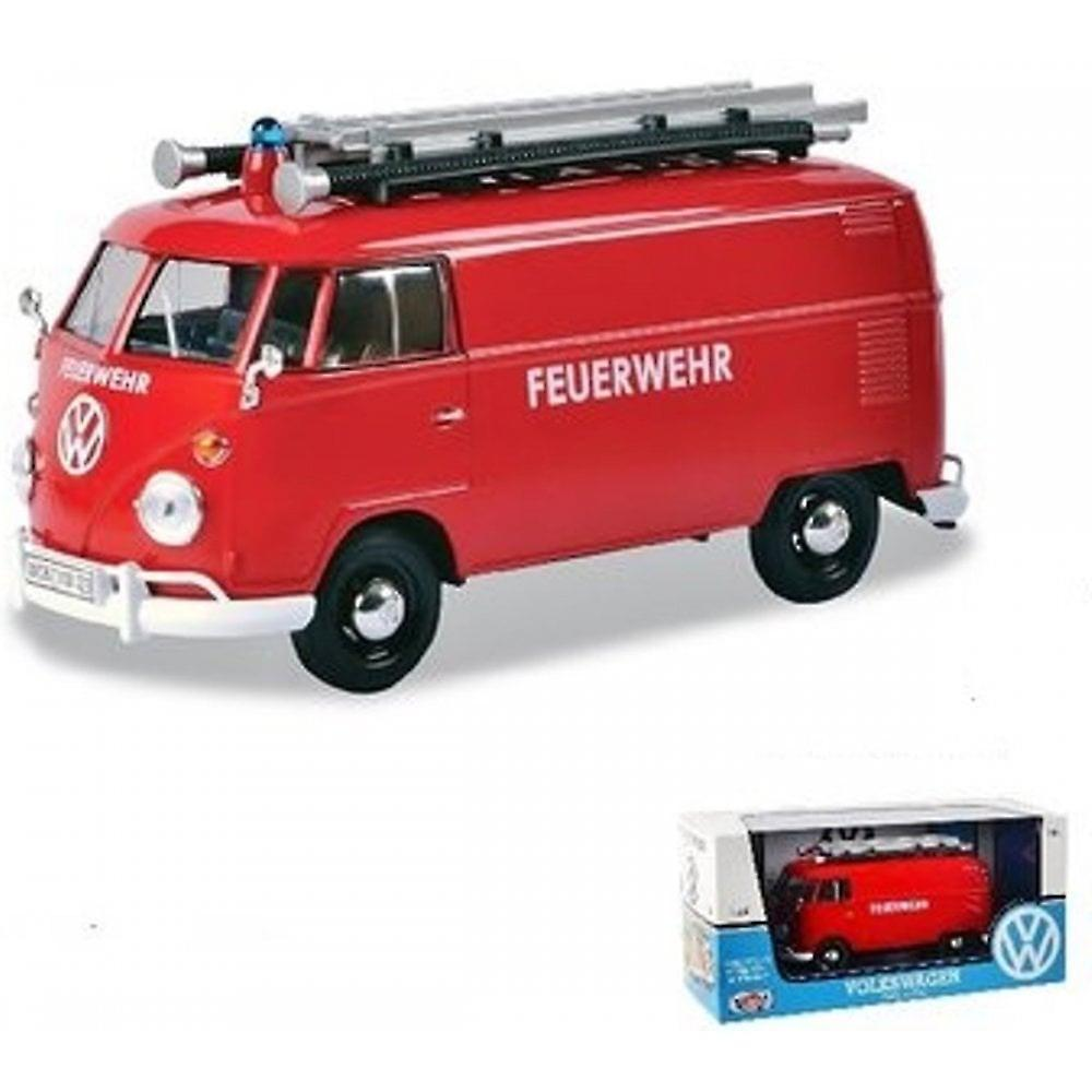 MotorMax Motormax Volkswagen VW Type 2 (T1) Fire Engine 1:24