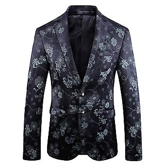 Allthemen Men's Floral Plants Printed Slim Fit Business Casual Balzer