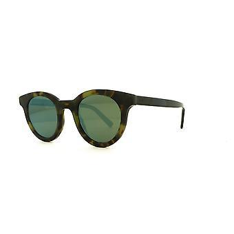 Dior Homme Blacktie218S SNK/AF Green Havana-Black/Green-Green Mirror Sunglasses
