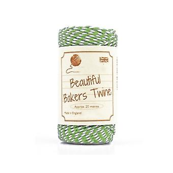 20m Lime Green Natural Bakers Twine for Crafts & Gift Wrapping