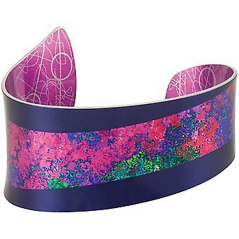 Ewige Sammlung Bolero lila und rosa mehrfarbige Aluminium Manschette Armreif