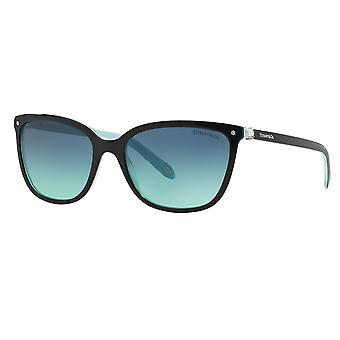 Tiffany & Co  Tf4105hb 81939s 55 Black And Blue Square Ladies Sunglasses