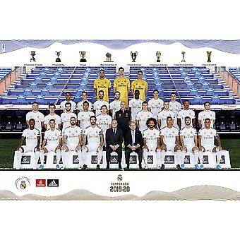 Real Madrid plakat team sæson 2019/20 hele teamet