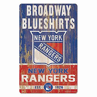 Wincraft NHL Wooden Sign SLOGAN New York Rangers 43x28cm