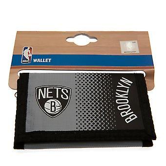 Brooklyn Nets Fade Design Touch Fastening Nylon Wallet
