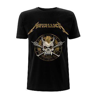 Metallica Gold Skull James Hetfield Lars Ulrich Oficjalny T-Shirt