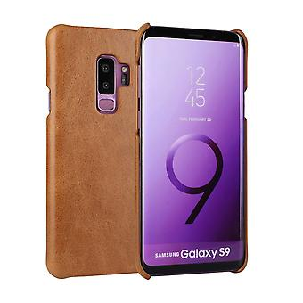 Pour Samsung Galaxy S9 Case,Elegant Genuine Protective Leather Cover,Brown