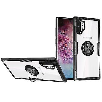 For Samsung Galaxy Note 10+ Plus Case Black Plastic Protective Back Cover