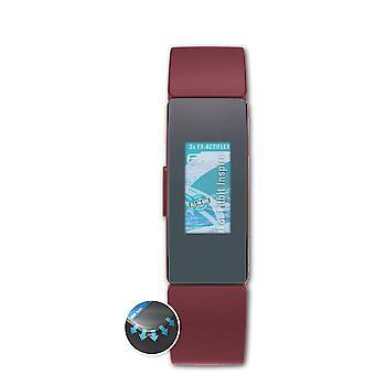 atFoliX 3x Schutzfolie kompatibel mit Fitbit Inspire Displayschutzfolie matt&flexibel