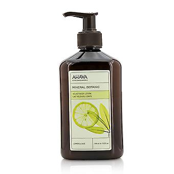 Mineral botanic velvet body lotion   lemon & sage 400ml/13.5oz