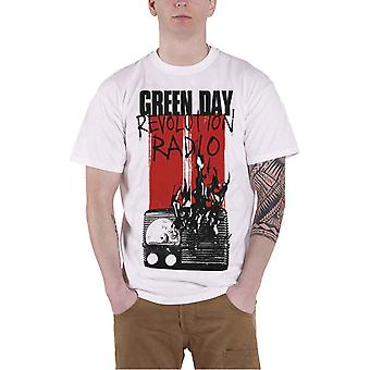 Green Day T Shirt Revolution Radio Combustion band logo new Official Mens White