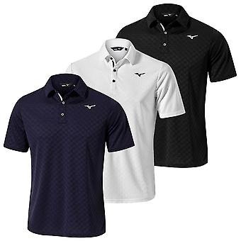Mizuno Mens 2020 Quick Dry Jacquard Short Sleeve Wicking Golf Polo Shirt