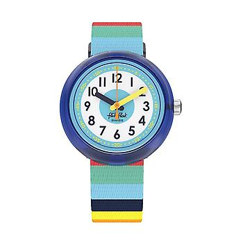 Flik Flak Uhren Fpnp056 Stripybow Multi Colour Textiluhr