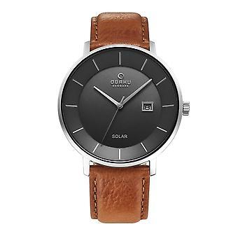 Obaku Nordlys Camel Men's Solar Wristwatch V222GRCJRZ