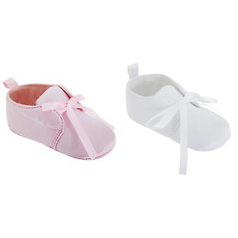 Baby Girls Special Occasion Pram Shoes With Bow