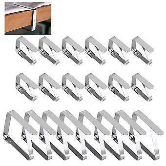 20x Tablecloths Stainless Steel Clamps For Tablecloths 2 Different Sizes Included 20 Clips In Total !