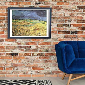 Vincent Van Gogh - maisema on Auvers, 1890 Juliste Tulosta Giclee