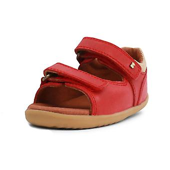Bobux step up red driftwood sandals
