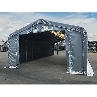 Lagertelt PRO 7x7x3,8m PVC m/ hvitt takpanel, Grå