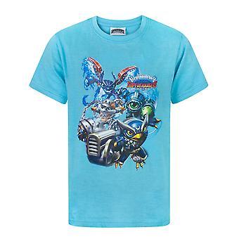 Skylanders Superchargers Characters Blue Boy's T-Shirt