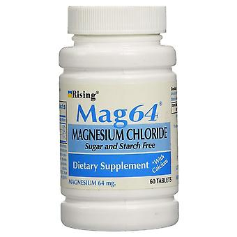Rising mag64 magnesium chloride with calcium, tablets, 60 ea