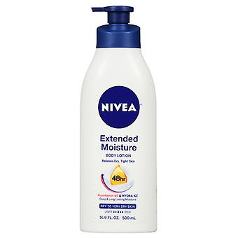 Nivea extended moisture body lotion, dry to very dry skin, 16.9 oz