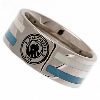 Manchester City FC Stripe Crest Ring