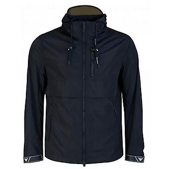 Armani Zip Through Hooded Jacket