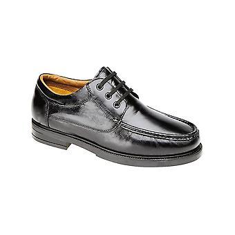 Roamers Black Softie Leather Moccasin Type Shoe