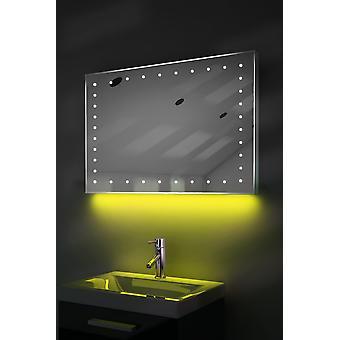 Ultra-Slim Spegel med UnderLighting, Bluetooth, Demist & Sensor k164waud