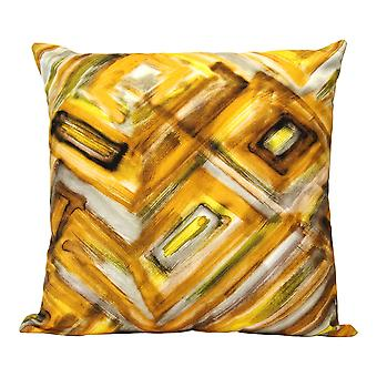 Safari Abstract Cotton Square Indoor / Outdoor Pillow