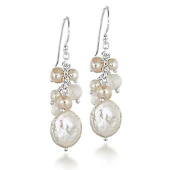 Tuscany Silver - Sterling 925 Silver Pendant Earrings with Pearl