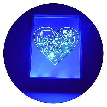 我爱你 AnANNIE 心色改变 RC LED 镜灯框
