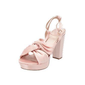 Bianco Satin Strap Sandal JFM18 Women's Pumps Pink High Heels Stilettos