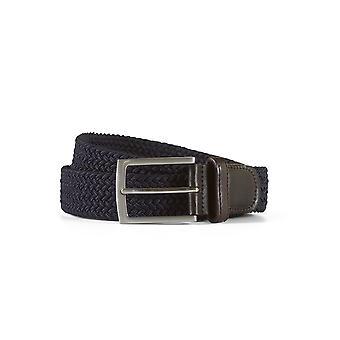 Braided belt john navy / brown
